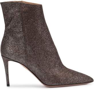 Aquazzura metallic stiletto heel ankle boots
