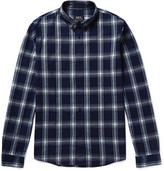 A.p.c. - Button-down Collar Checked Cotton Shirt