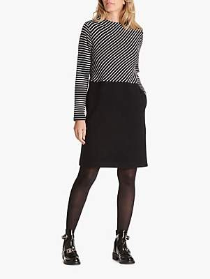 Betty & Co. Striped Jersey Dress, Black/White