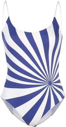 Onia Gabriella striped swimsuit