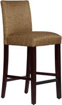 Asstd National Brand Valerie Upholstered Metallic Linen Barstool
