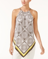 Alfani Petite Printed Halter Top, Created for Macy's