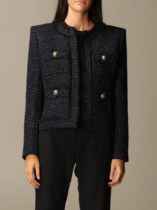 Balmain Tweed Jacket With Shoulder Pads