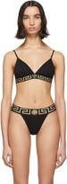 Versace Underwear Black Medusa Triangle Bra