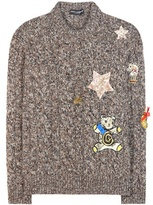 Dolce & Gabbana Cashmere Sweater With Appliqué