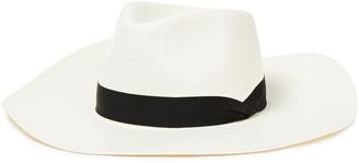 Rag & Bone Grosgrain-trimmed Straw Panama Hat