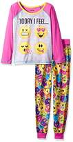 Komar Kids Big Girls' Today I Feel 2 Piece Sleepwear Set