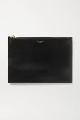 Saint Laurent Medium Leather Pouch - Black