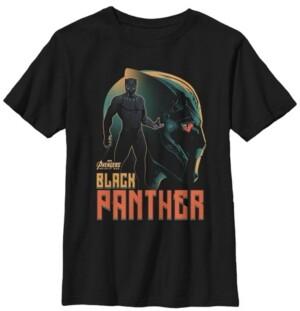 Fifth Sun Marvel Big Boy's Infinity War Black Panther Profile Short Sleeve T-Shirt