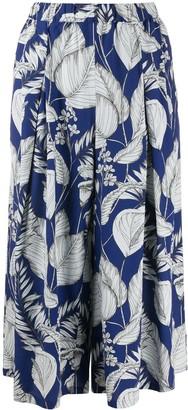 Zucca Foliage-Print Trousers