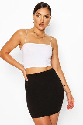 boohoo Elasticated Waist Loopback Mini Skirt