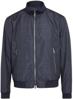 Armani Collezioni Navy Water-repellent Shell Bomber Jacket