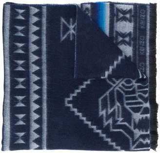 Kenzo logo knit scarf