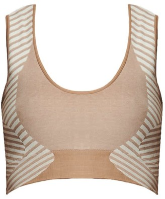 Ahmworld Conscious Yoga Sports Bra In Nude