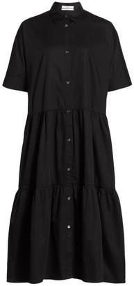 Co Tiered Poplin Midi Dress