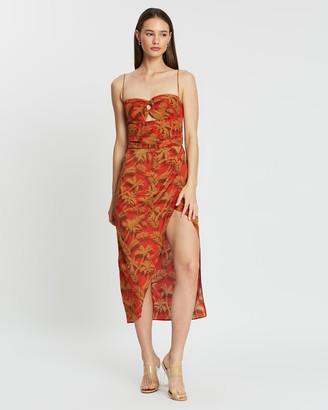 Bec & Bridge Shady Palm Midi Dress