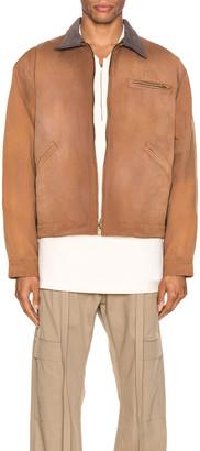 Fear Of God Canvas Work Jacket in Brick & Brown | FWRD