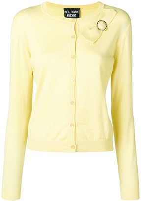 Boutique Moschino Classic Cardigan With Bow Detail