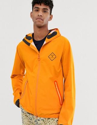 Barbour Beacon Etterick hooded waterproof jacket in orange