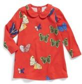 Mini Rodini Infant Girl's Butterflies Peter Pan Collar Dress