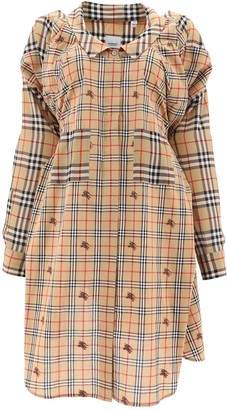 Burberry Checked Tie-Waist Dress
