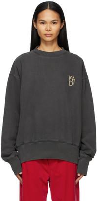 we11done Grey Pearl Logo Sweatshirt