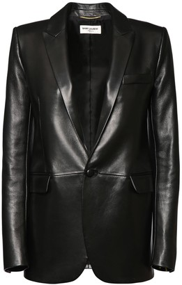 Saint Laurent Single Breast Leather Jacket