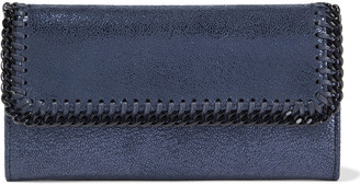 Stella McCartney Falabella Metallic Faux Brushed-leather Continental Wallet