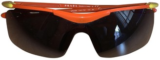 Prada Orange Plastic Sunglasses