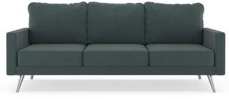 Latitude Run Labonte Sofa Fabric: Aegean Blue, Leg Color: Black