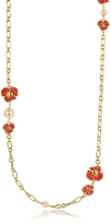Tory Burch Fleur Rosary Long Necklace