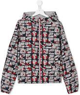 Moncler cartoon-print hooded jacket