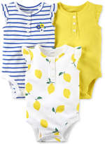 Carter's 3-Pack Printed Cotton Bodysuits, Baby Girls
