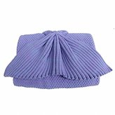 Hughapy knitted Mermaid Tail Blanket for Adults Teens,Kids Crochet Snuggle Mermaid,All Seasons Seatail Sleeping Blanket (Adult,Purple)