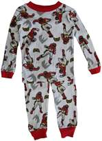 Power Rangers Little Boys Red Character Print All-Over 2 Pc Pajama Set