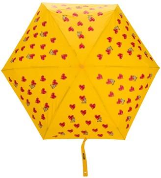 Moschino Heart Print Umbrella