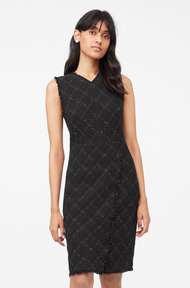 Rebecca Taylor Tailored Textured Tweed Dress