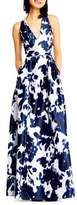Adrianna Papell Abstract Print Gown