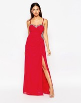 Lipsy Embellished Bandeau Maxi Dress