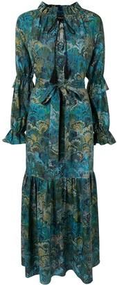 Cynthia Rowley Sanibel marble-print dress