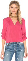 Velvet by Graham & Spencer Jena V Neck Blouse in Pink