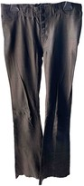 Hudson Black Leather Trousers for Women