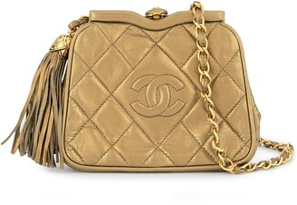 Chanel Pre-Owned 1989-1991 quilted CC logos fringe bum bag