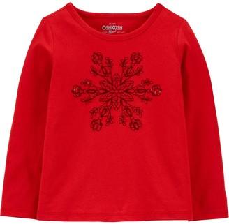 Osh Kosh Toddler Girl OshKosh Bgosh Snowflake Long Sleeve Tee