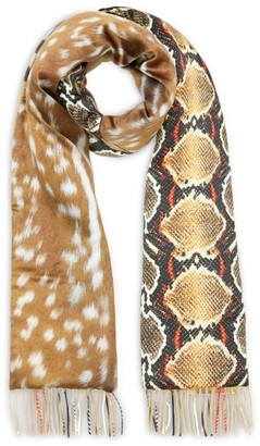 Burberry Cashmere-Silk Padded Scarf