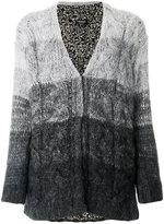 Twin-Set ombré knitted cardigan - women - Polyamide/Viscose/Mohair/Wool - S
