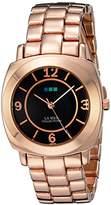 La Mer Women's LMODYSSEYLINK003 Analog Display Japanese Quartz Rose Gold Watch