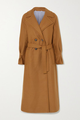 Yoox Net A Porter For The Prince's Foundation YOOX NET-A-PORTER For The Prince's Foundation - Belted Double-breasted Merino Wool And Cashmere-blend Coat - Camel
