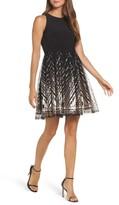 Vince Camuto Petite Women's Sequin Fit & Flare Dress