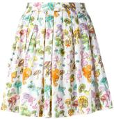Olympia Le-Tan pleated mushroom print skirt - women - Cotton - 36